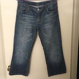 7 For All Mankind Cropped Bootcut Jeans Size 32
