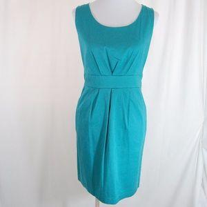 Teal Pleated Pocket Dress