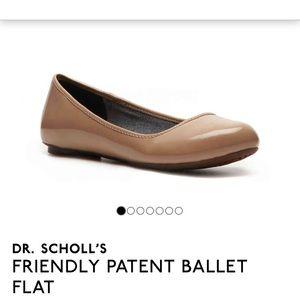 Dr Scholls Patent Ballet Flats