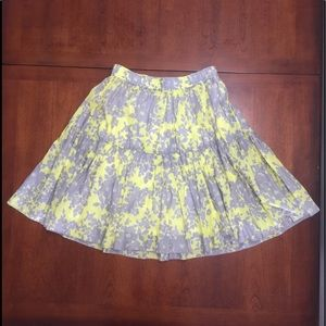 Old Navy Gray and Yellow Floral Skirt