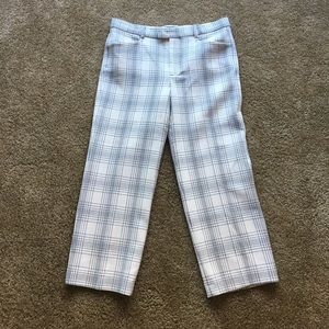 Zara Black&Cream plaid trousers