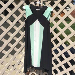 Black, White, and Mint Green Dress
