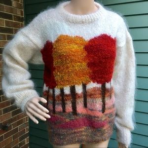 Hand Made Wool Cashmere Nylon Sweater