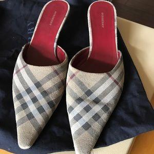 Burberry Suede Heels