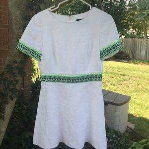 J. Crew embroidered dress