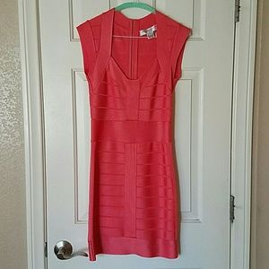 French Connection Bandage Dress - Coral 6