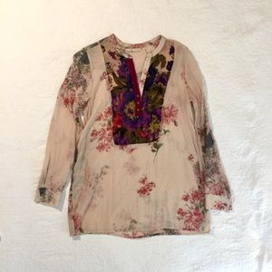 Soft Surroundings sheer floral tunic