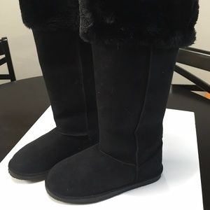 Shoedazzle Lappland Over the Knee Fur Boots