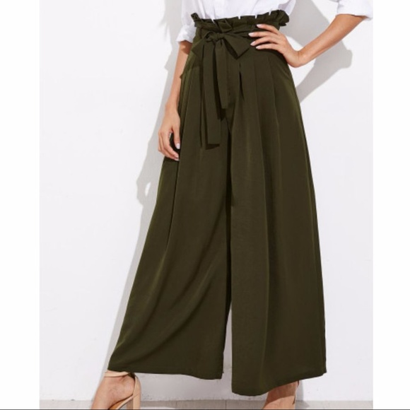 Little Black Dog Boutique Pants Final Sale New Olive Green Palazzo