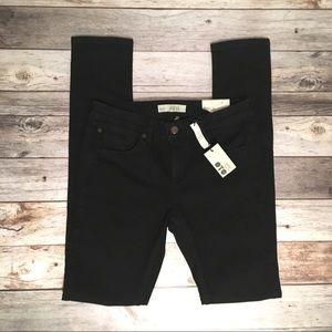 Topshop Baxter Moto Black Skinny Jeans NWT Size 8