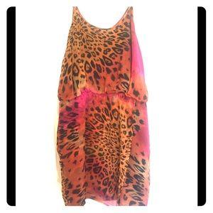 Charlie Jade asymmetrical hem leopard print dress