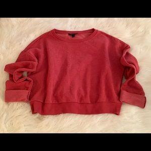 Top shop crop sweatshirt