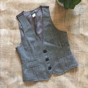 J. Crew 💯 Women's Wool Tuxedo Vest Sz XS🍁😍😍