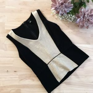 Ann Taylor Top in Black and Khaki