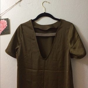 H&M Olive slip dress with chic back detail
