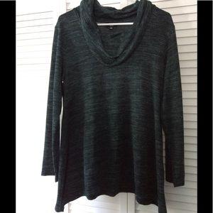 Jones New York Teal Cowl Neck Sweater Large