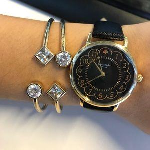 Kate Spade Black Scallop Watch