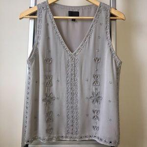 Greyson Gray Silk Sleeveless Blouse