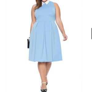 Eloquii light Blue dress w/ white collar NWT 20
