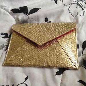 Dimitri James SKINN Gold Clutch Purse Bag