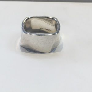 Tiffany & co Sterling silver 925 square band ring