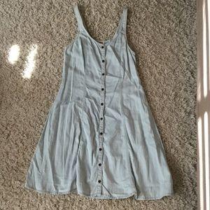 Light denim like fabric dress