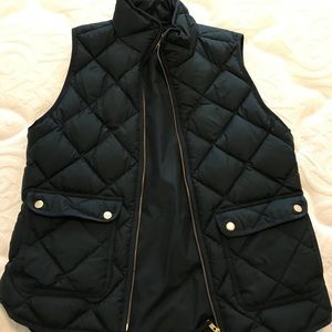 J crew puffer best forest green