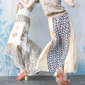 Anthropologie funktional silk high low skirt NWT