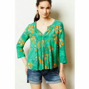 Anthropologie Vanessa Virginia top US 10 green f