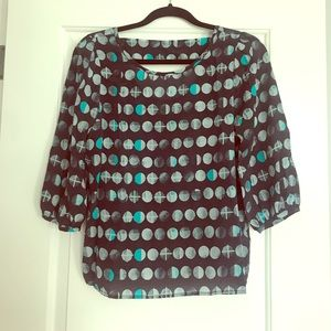 Anthropologie Lunar Eclipse Silk Blouse