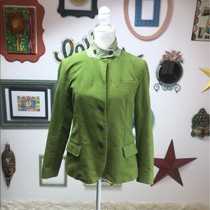 J. CREW Women's Green adjustable Collar Blazer