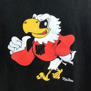 Undefeated black cotton bird s/s tee shirt