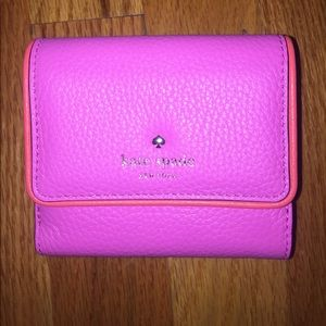 NEW kate spade pink leather wallet