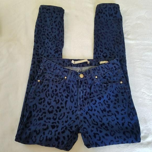 315b80c1 Zara Jeans | Woman Velvet Leopard Skinny | Poshmark
