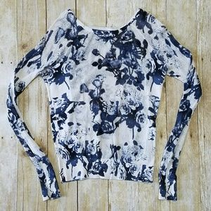 UO Floral Sweater Top