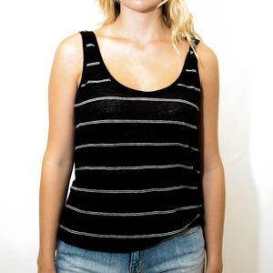 Joie Black & White Striped Tank Top, Size M
