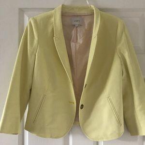 LOFT cute yellow blazer!