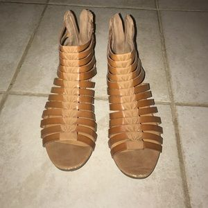 Tan Franco Sarto sandals. Size 5