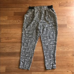 Forever 21 Ambience Black and White Trousers