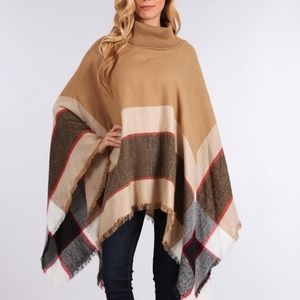 CHARLESTON Poncho - TAN