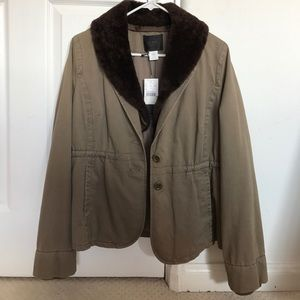 J.Crew Collection Shearling Fatigue Jacket/Blazer