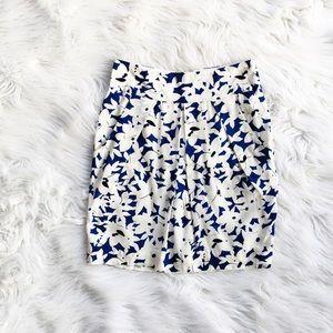 Anthropologie Odille silk floral skirt