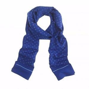 NWOT J.Crew Silk Tie Scarf in Regal Blue
