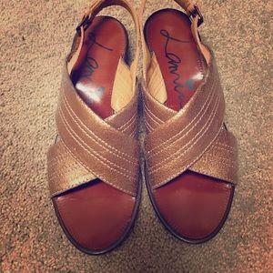 Lanvin metallic sandals size 6.5