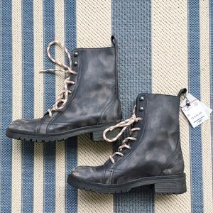 Zara gray leather boots.