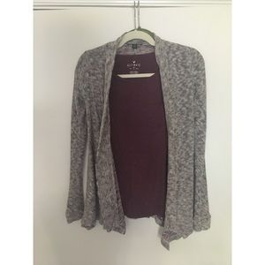 American Eagle Cardigan and T-shirt