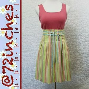 Old Navy High-Waisted Candy Stripe Pleated Skirt