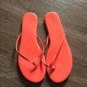 Gap neon orange sandal size Us 8