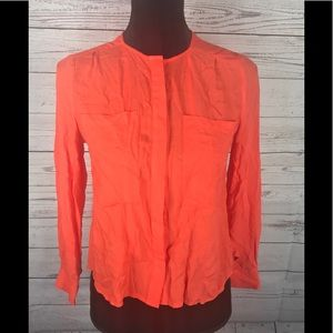 Maeve By Anthropologie Coral Blouse Size 00P Hi Lo