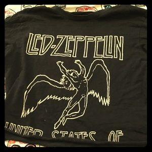 EUC Led Zeppelin crop tee